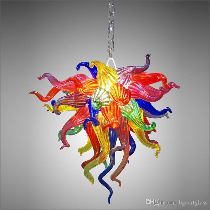 Современный хрустальный рот взорванные стеклянные люстры светильники освещения цветок разработанные ручные потолочные светильники для кухонного декора
