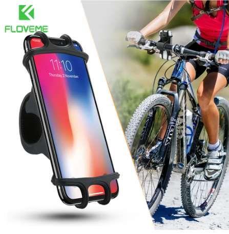 FLOVEME Soporte para teléfono de bicicleta para iPhone Samsung Soporte para teléfono móvil universal para bicicleta Manillar Clip Soporte GPS Soporte de montaje