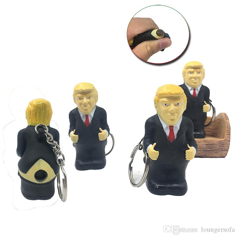 Trump Key Chains Squeeze Feces Creative Sell Well Keychain Vent Decompression Kid Toys Llavero Bolsa Decoración Colgante 6 1ky N1