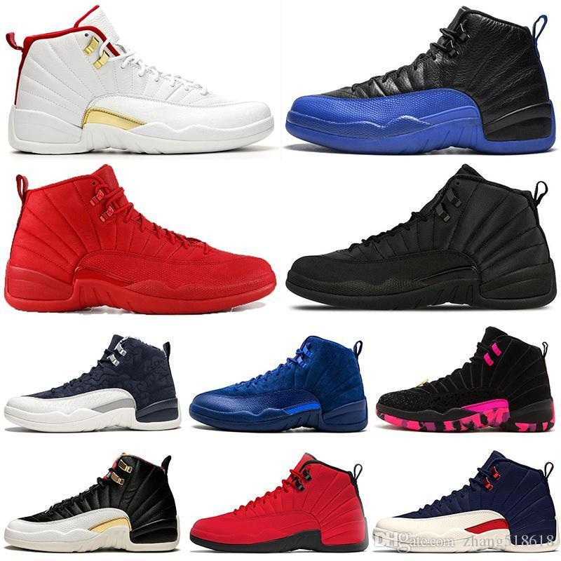 New 2019 Arrival Fiba 12 12s Basketball Shoes Men Game Royal Gym Red White Bulls Flu Game Michigan Designer Mens Trainers Sports Sneakers