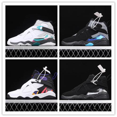 Crianças esportes sapatos 2020 New White VIII 8s crianças tênis de basquete preto formadores exteriores de qualidade superior tamanho transporte livre 11C-3Y