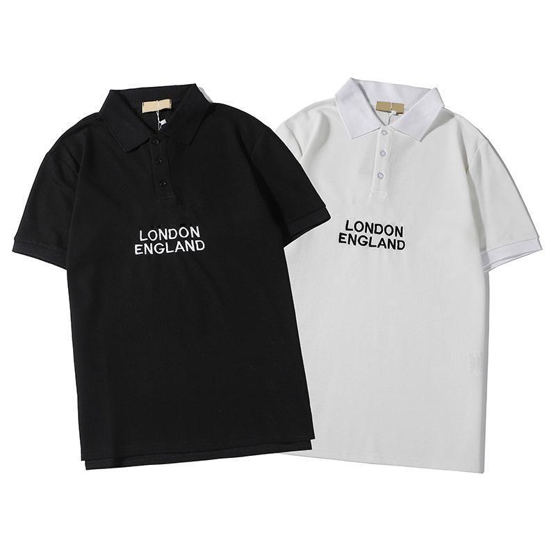 Marken-Männer Polos Designer Mode Luxus Letters Sommer England Art-Kurzschluss-Hülsen-Polohemd 2020 neue Ankunfts-Qualität Tops