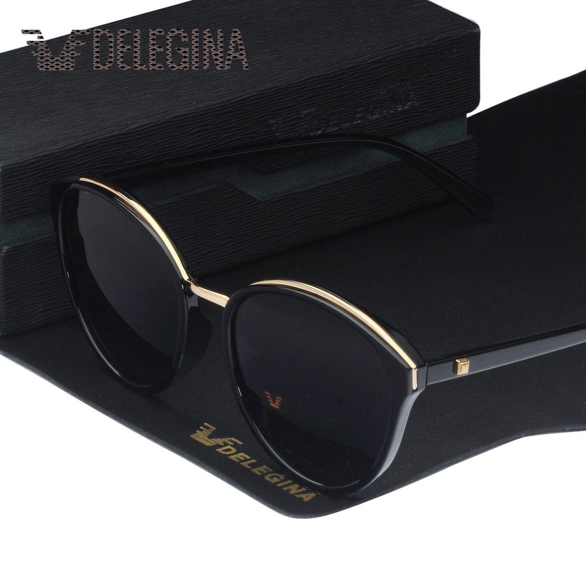숙녀 패션 편광 된 선글라스 고양이 스타일 태양 안경 여성용 큰 그늘 UV400 검정 투명한 Oculos