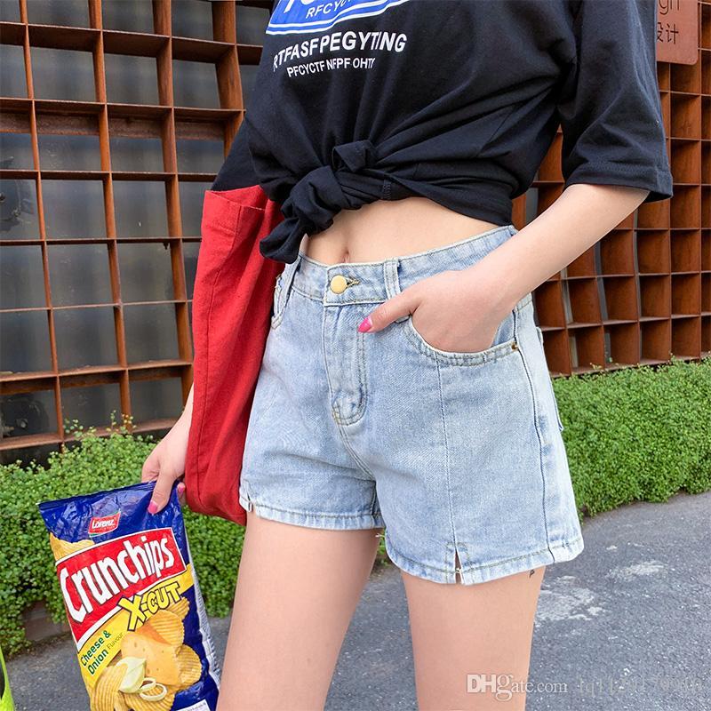 nuova moda di questa estate versatile vita alta chic era denim delle sottili pantaloni caldi Loose Women
