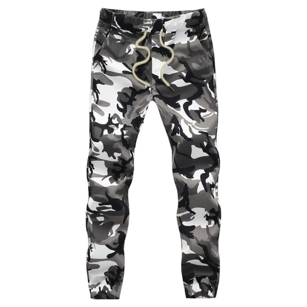 Cotton Mens Jogger autunno Matita Harem 2019 Pantaloni Uomo del camuffamento dei militari comodo allentato Cargo Pantaloni Camo JoggerLY191112