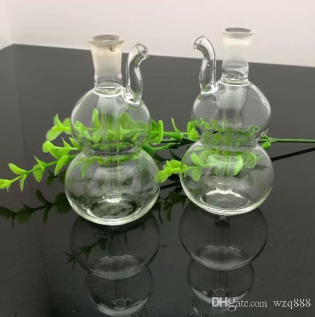 Mini bouteille d'eau en verre gourde en verre pipes en verre Bongs Bubblers For Smoking Couleurs pipe Mix