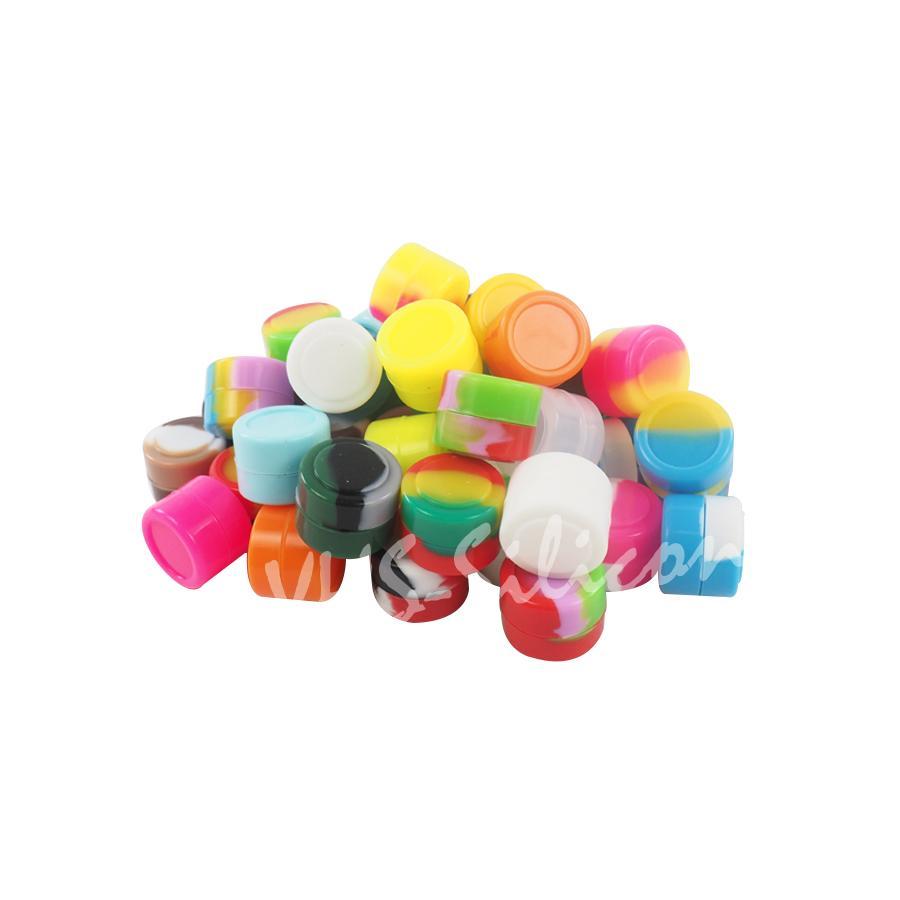 DABSシリコーンジャーのための卸売2MLシリコーン容器シリコーンジャーDABワックス容器