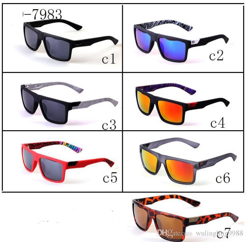 SıCAK Reçine lens Moda Erkekler kare çerçeve güneş gözlüğü kadın sürme Açık Havada Plaj Güneş Gözlükleri Sürüş Gözlük 7 Renkler ADEDI 10 pairs