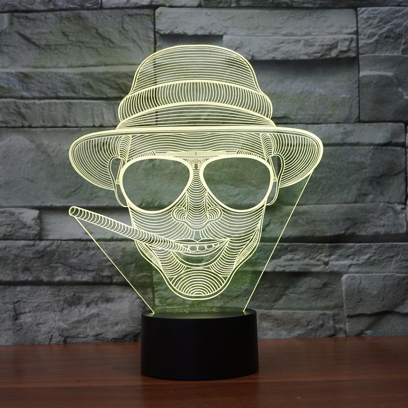 Pop2019 Fs - 3212 Pattern-Noten-LED Vision-Usb Europäischer Schlafzimmer 3d Rauch Geist Lampstand Lampe Kleines Nachtlicht