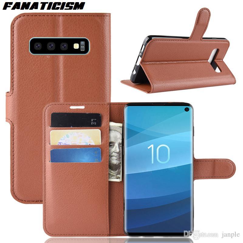 Кожа Стенд Wallet Раскладные случаи телефона для Samsung S20 S10 Ультра S10e S9 S8 S7 S6 Край Примечание 8 9 10 Plus Обложка