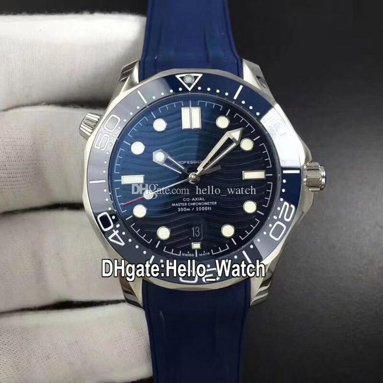 BF versione alta Nuova 210.32.42.20.03.001 Cal.8800 automatico Mens Watch Blu Ripple Quadrante Ceramica Lunetta blu cinturino in gomma Orologi Hello_Watch