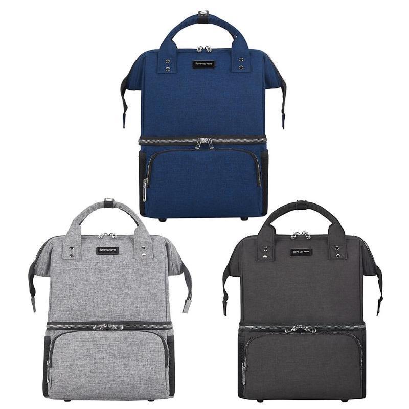 Многофункциональных Подгузники Уход сумка многоразового Водонепроницаемого путешествий хранение рюкзак Дизайн Назад Закрыть Anti-Theft сумка сейф