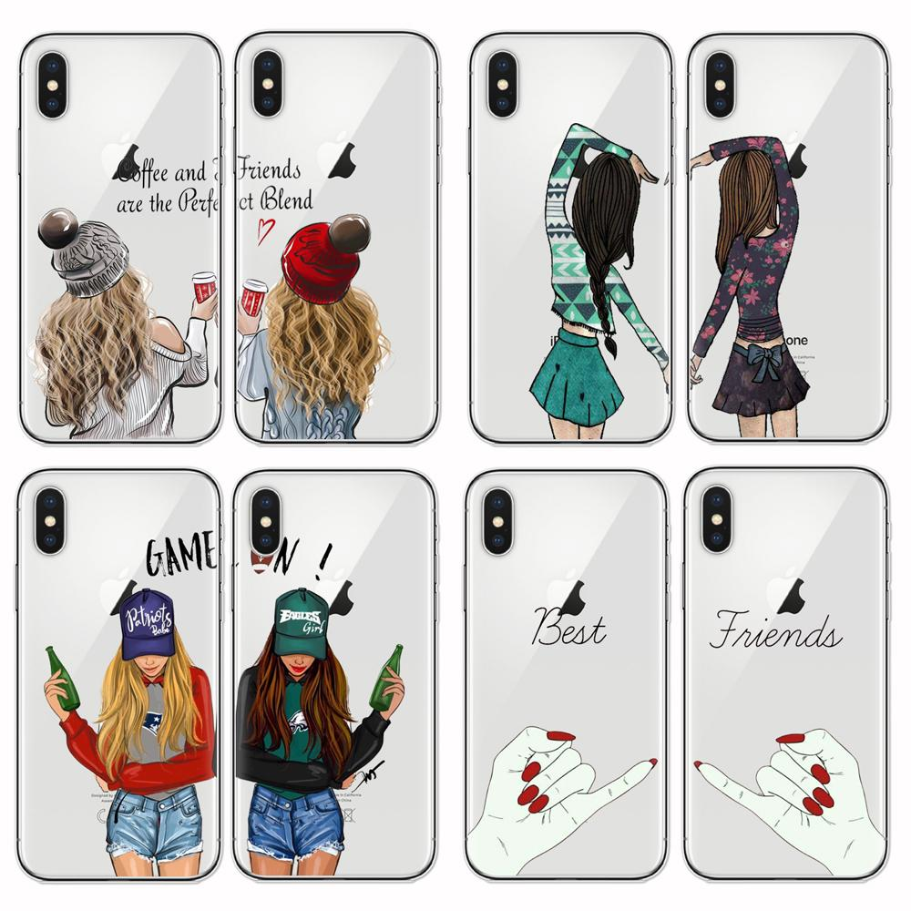 for iphone 7 best friends soft coque case