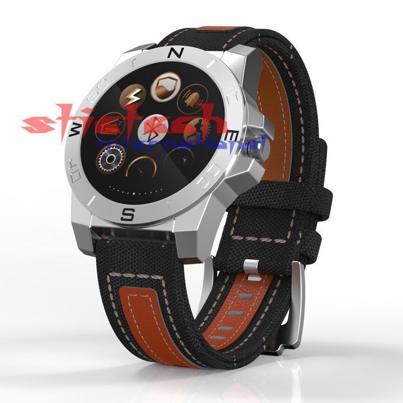 по DHL или EMS 10 комплектов N10B Роскошные часы смарт часы водонепроницаемый Bluetooth 4.0 компас сердечного ритма мониторинга для активного отдыха