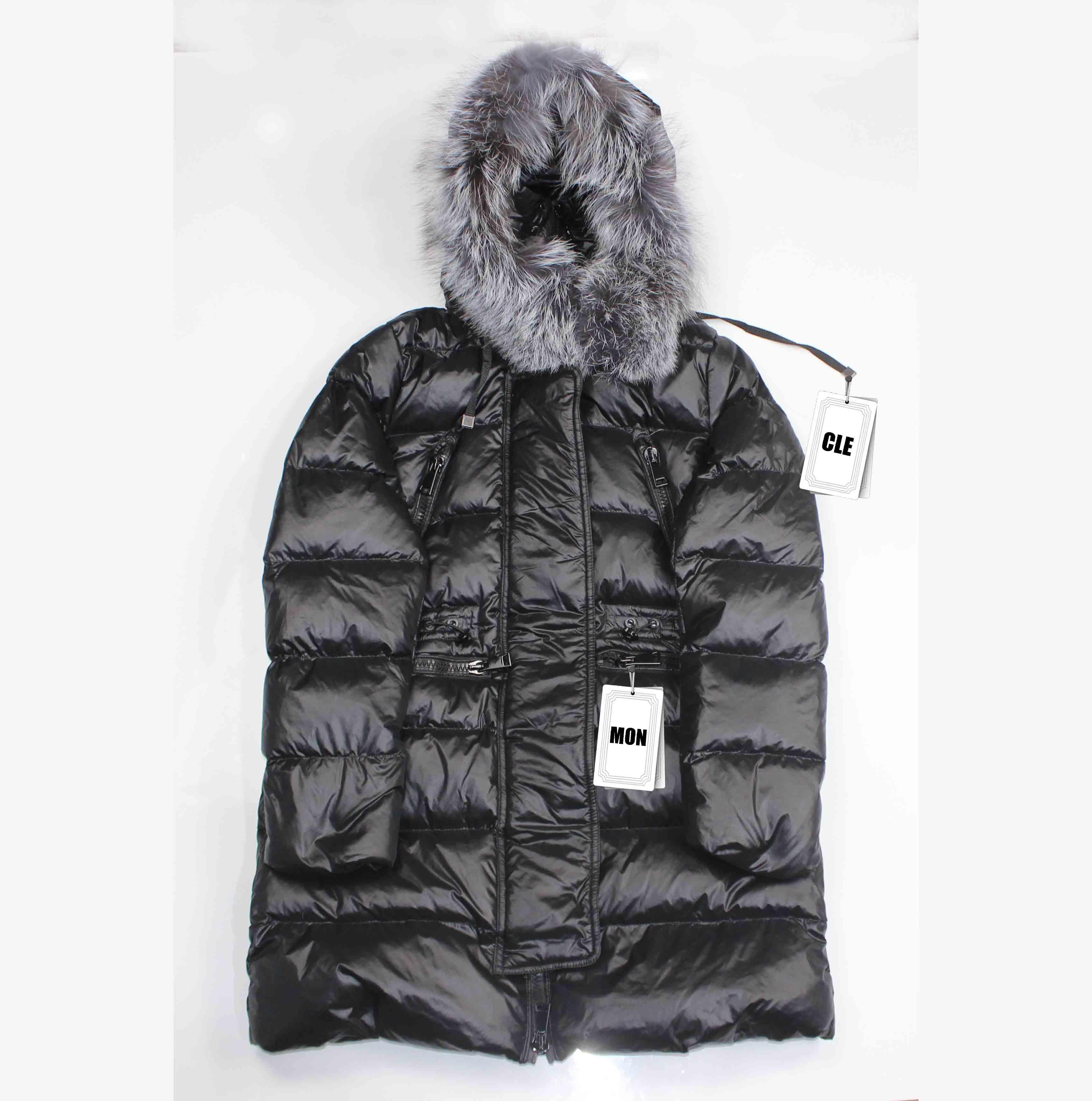 Progettista delle donne giù ricoprono il lusso di colore solido lungo Giacche invernali caldi vestiti donne di moda all'aperto indossare parka di marca con TagLabel.Y05