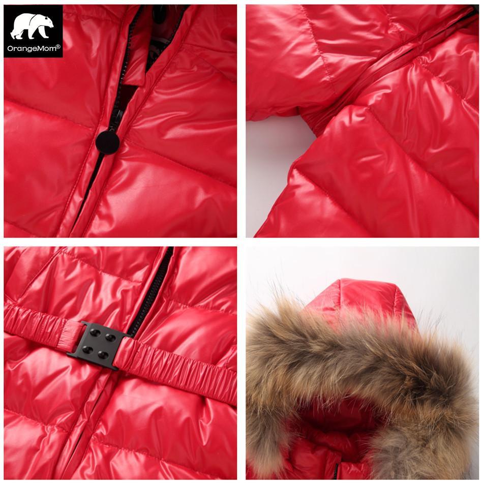 Orangemom loja oficial inverno jumpsuit quente outerwear casacos jaqueta para meninas, meninos roupa do bebê parka Y200320 desgaste de neve