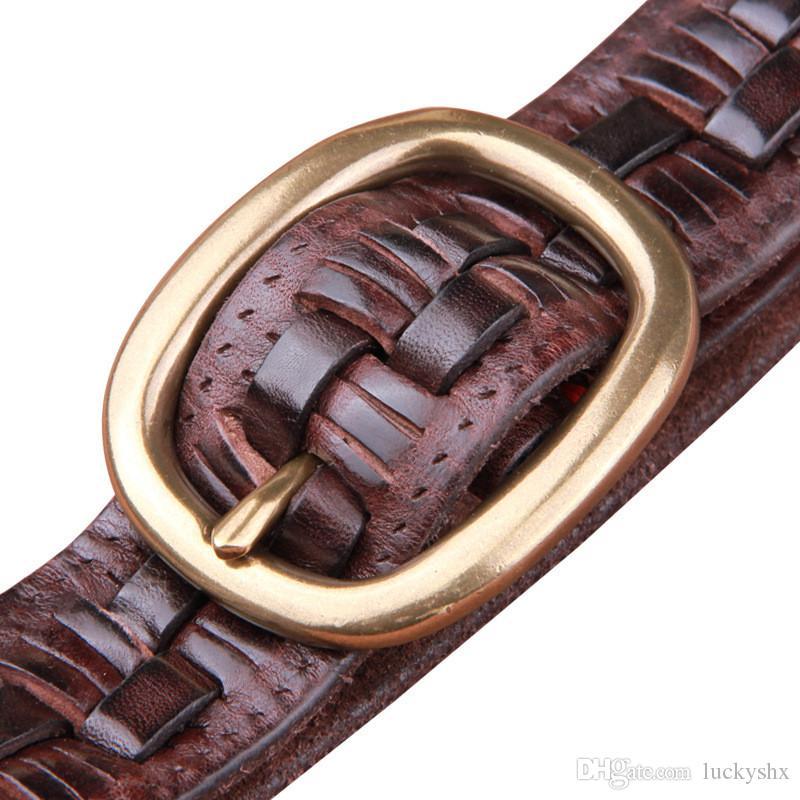 Ceinture de boucle chaude en cuivre pur de mode pour hommes en cuir véritable ceintuur cinto ceinture concepteur ceintures hommes de haute qualité ceinture en peau de vache