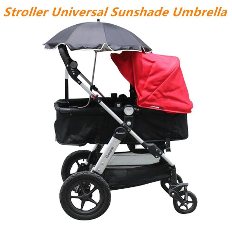 유모차 우산 나일론 안티 UV 썬 캐노피 커버 (360 개) 조정 유모차 우산 스트레치 스탠드 홀더 유모차 액세서리