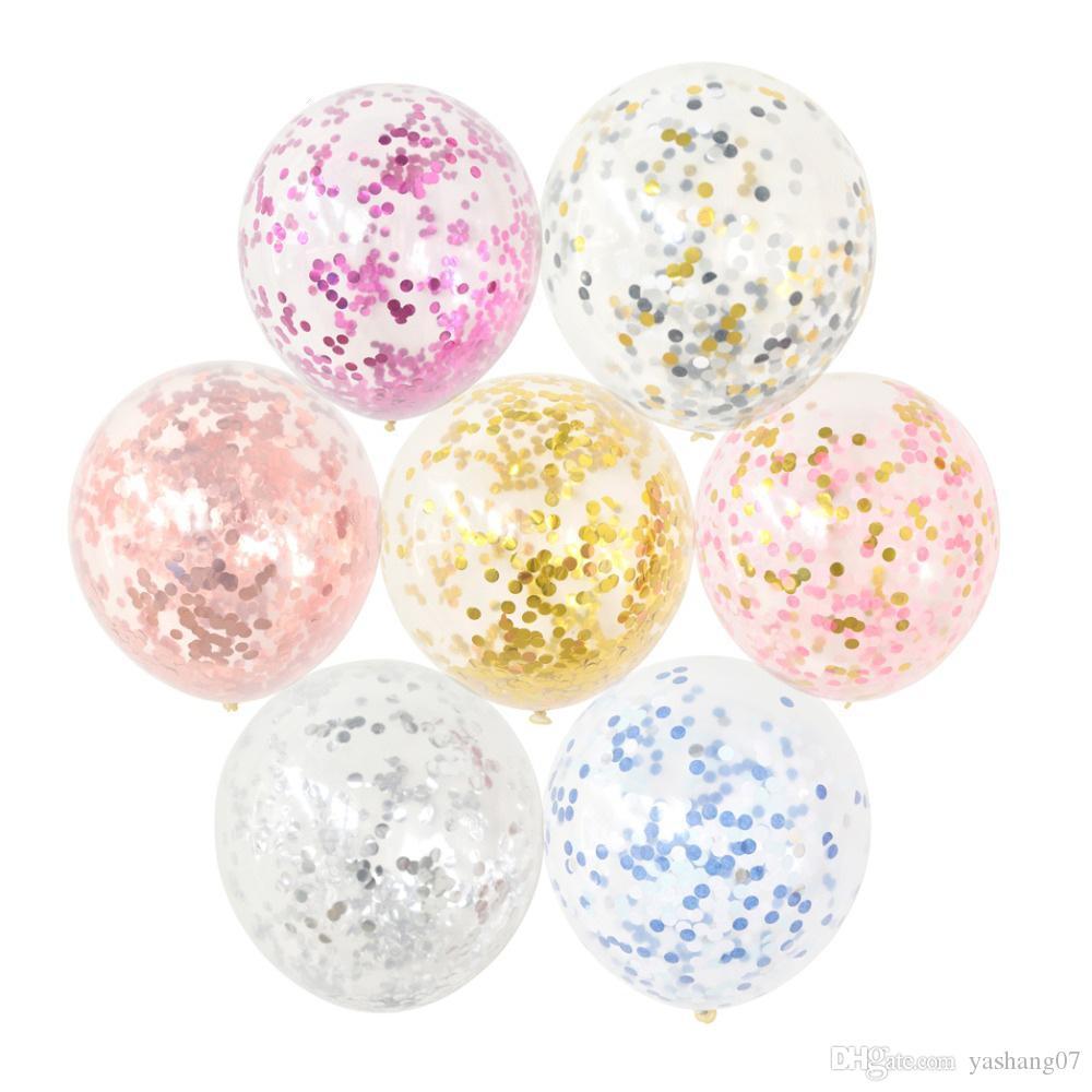Mixte Or Confetti Ballons de fête d'anniversaire Décoration Enfants adultes Metallic Ballon Air Ballon Birthday Set Ballon Décor Baloon