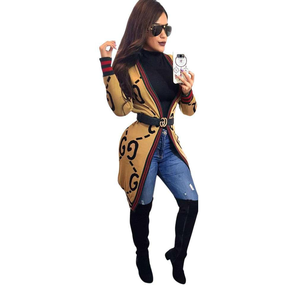 Women Fashion Outerwear Red Green Stripe Womens Winter Jackets For Lady Loose Cardigan Jacket Women Spring Clothing