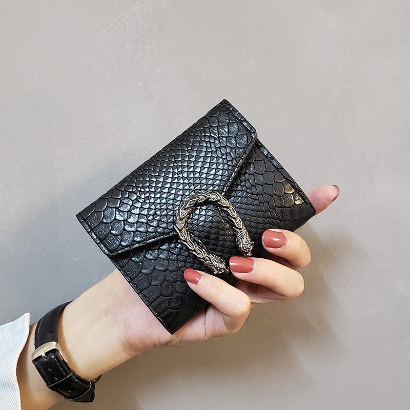 Nuovo raccoglitore del progettista piccole donne portafoglio corto retrò sconto portamonete multicolore caldo mini prezzo di fabbrica borsa di pelle delle donne