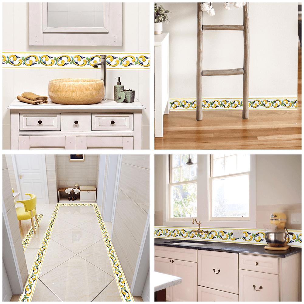 Hot Sale Factory Price European-Style Skirting Line Self-Adhesive Waist Line Stickers Wallpaper Decorative Tile Kitchen Bathroom Waterproof