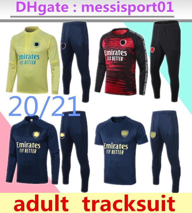 2020 2021 Arsen hommes arsenal Maillots de football Sets Survêtements sport Jersey 20 21 uniformes de formation Polo pantalons de survêtement de chemise à manches courtes