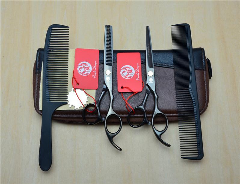 أعلى جودة الشعر مقص 4PCS / حقائب حالة الخصر حزمة حقيبة أدوات تصفيف الشعر حامل جلد المقص مقص الشعر مقص الحقيبة المحفظة