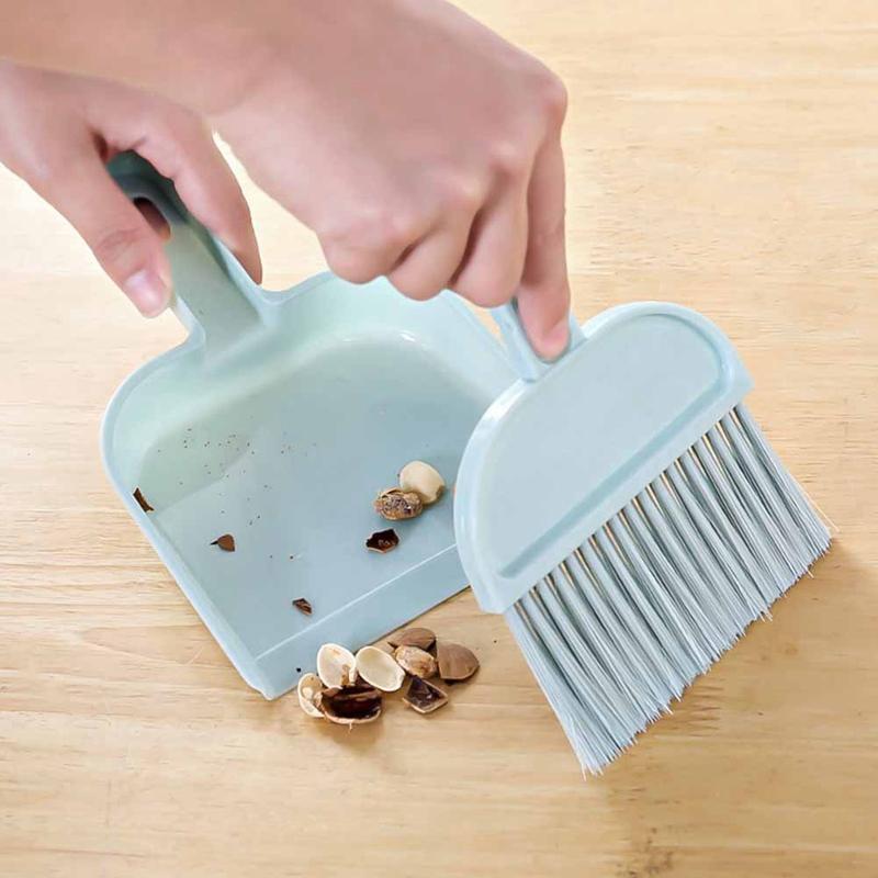 2019 الاجتياح جديد نمط سطح البسيطة تنظيف فرشاة المكنسة الصغيرة متعددة الوظائف يمكن الشنق مكتب المجرفة مجموعة الساخن بيع