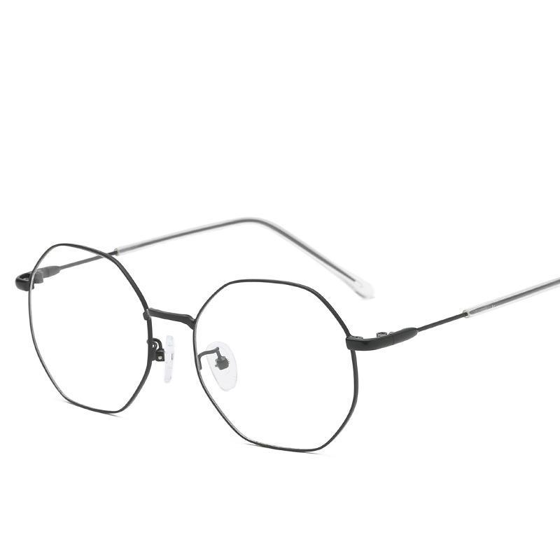 2019 New Retro Women Men Irregular Square Glasses Frame Metal Transparent Flat Eyeglass Frame Spectacles Myopia Eyeglasses