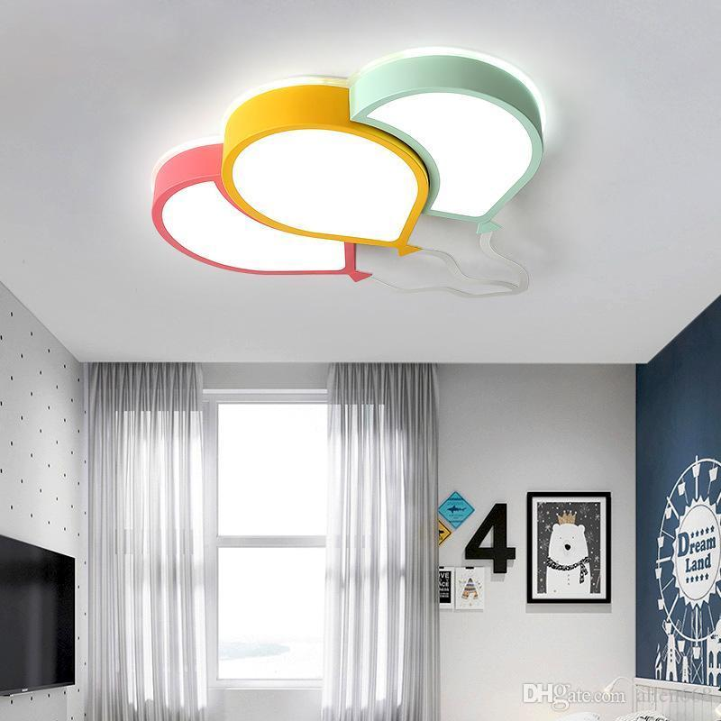 Plafoniere moderno LED Cartoon pallone superficie della lampada a soffitto Per di Camera bambini Kid Room Decor Light Fixtures