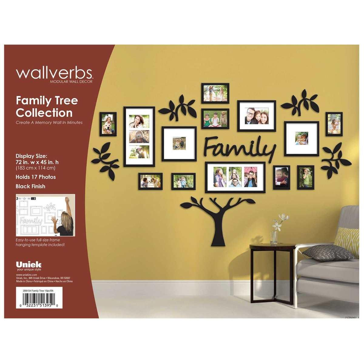 3D DIY Acrylic Wall Stickers 17PCs Family Photo Frame Tree Wall Sticker Decor Living Room Art Picture Frame Wall Decals Poster