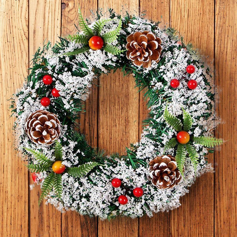 Wall Hanging Christmas Wreath Decoration For Xmas Party Door Garland Ornament Indoor Outdoor Covered Christmas Wreath SH190916