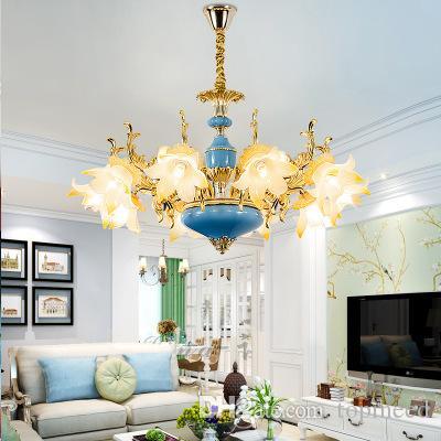 유럽 샹들리에 조명 거실 LED 조명 미국 침실 램프 레스토랑은 현대 샹들리에 LED 램프 E14 조명
