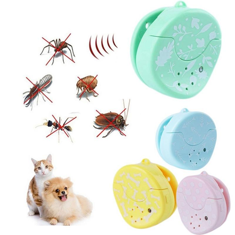 4 farben ultraschall elektronische pet dod cat repeller ablehnen mücken schädlingsbekämpfung bug geräuschlose flöhe zeichen abweisend kragen