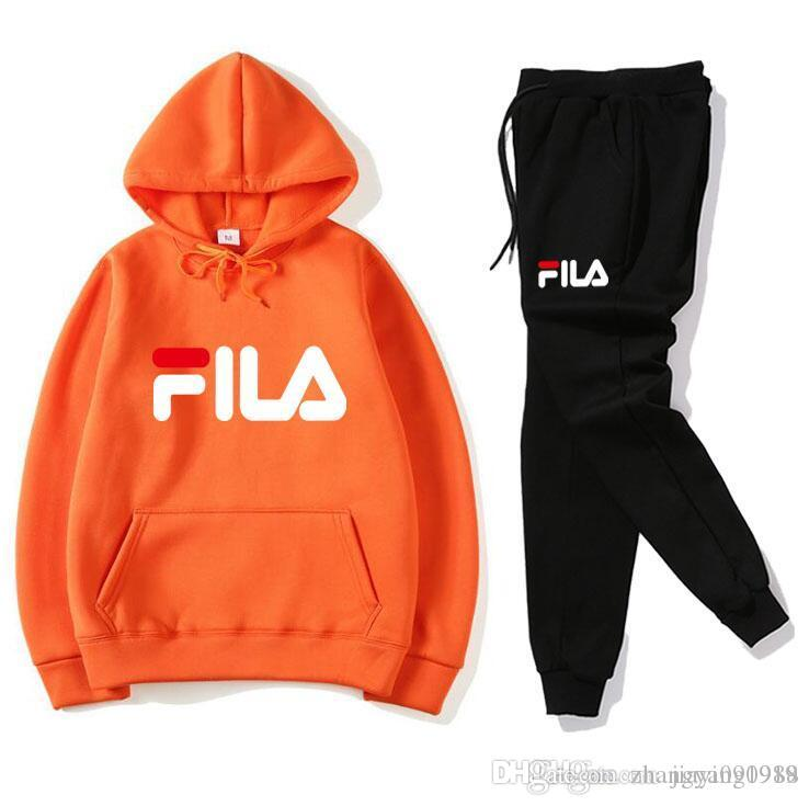 2019 New Fashion Warm Up Sports Suit Men'S Hoodie + Pants Men'S Sweatshirt Pullover Women'S Leisure Tennis XXLFILA Sports Suit From Zhangyang1988,
