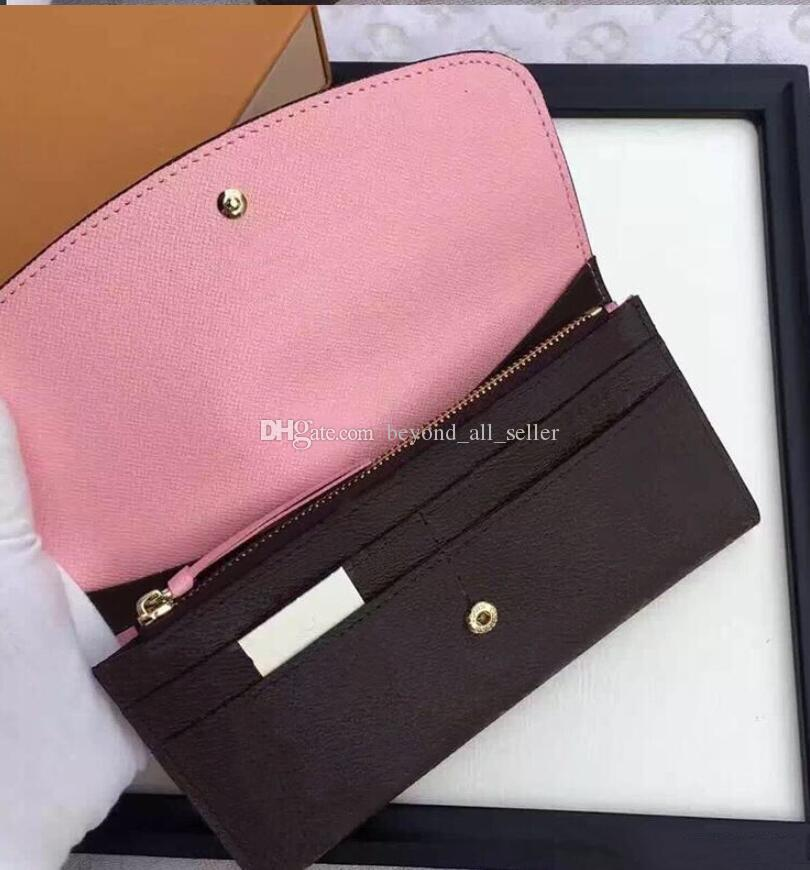 Women men long wallet Multicolor colourfull Business Card Case Original for lady coin purse Zipper Pocket case genuine leather top quality