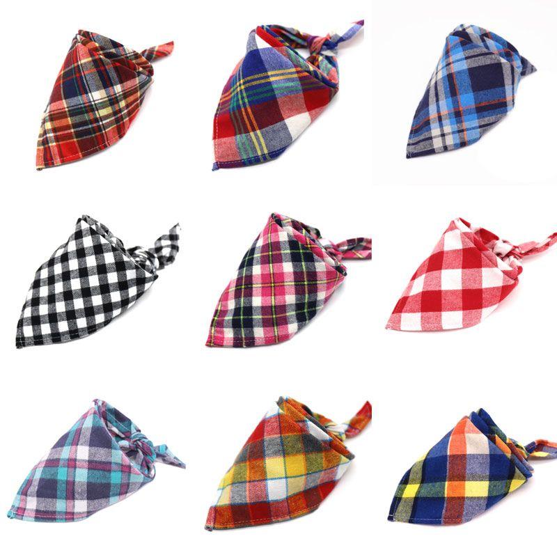 30 Styles New Fashion Scotland Style Baby Children Plaid Cotton Triangular Bandage Towel Bib Kids Burp Cloths Free Shipping