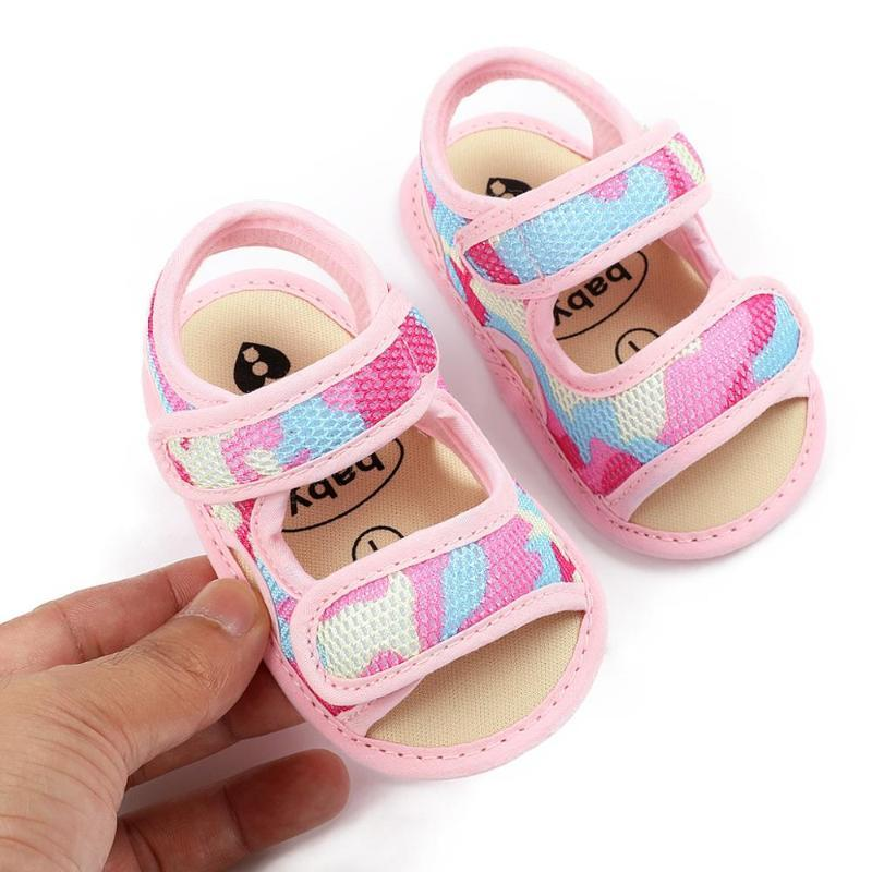 Hot sale Newborn Summer 16 colors New Cotton sandals baby moccasins Anti-slip Baby infant girls boys sandals