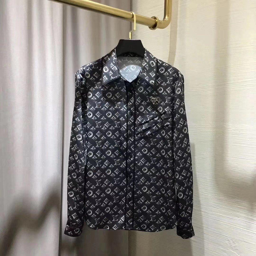 uzun kollu üst yaz gömlek moda rahat iş gömlek iyi bayan giyim 6HV4 2020 yüksek kaliteli yeni bayanlar