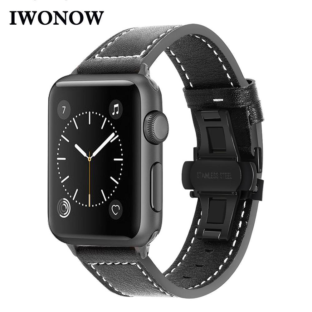 venda de cuero al por mayor para el reloj de Apple iWatch 38mm 40mm 42mm 44mm Serie 4 3 2 1 Banda de reemplazo Correa de deporte pulsera pulsera