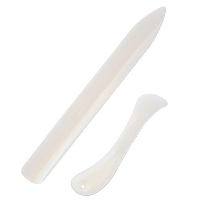 2PCS Edges portáteis Artesanato Handmade óssea pasta Letter Opener costura ferramentas práticas vincar Acessórios Papel Couro Scoring