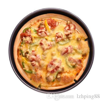 Pizza Plate Round Deep Dish Pizza Pan Tray Carbon Steel Non-stick Mold Baking Tool Baking Mould Pan Pattern
