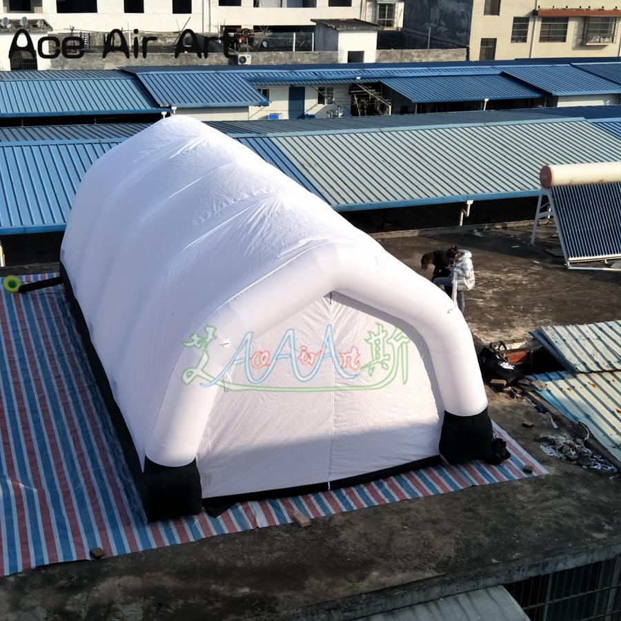 inverno all'aperto tenda del partito casa Tunnel matrimonio gigante libero di trasporto, spray stand con porte cerniera per gli eventi