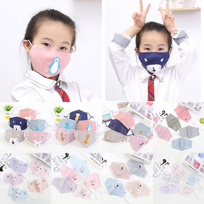 10 Máscaras Estilo Crianças poeira e Urso Cotton Smog Máscaras de impressão dos desenhos animados do miúdo diário Máscaras XD23634