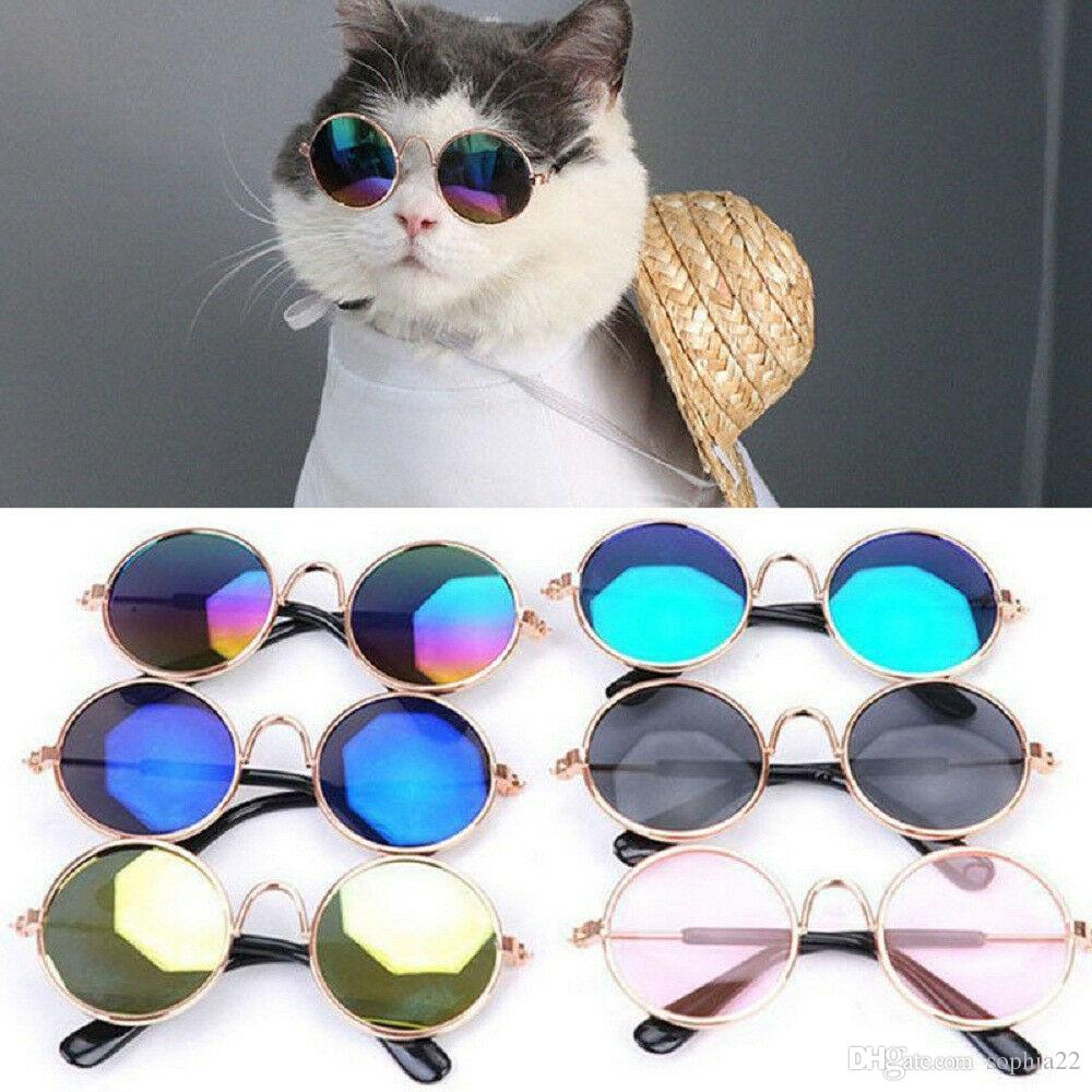 50 Pieces lot Hot Sale Pet Sunglasses for Cat Small Dogs Eyes Protection Sun Glasses Puppy Photos Props Eyewear