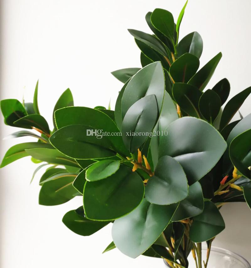Поддельные зелени Пеперомиат Трофилла филиал искусственные зеленые оливковые стебли 90 см для домашнего офиса свадьба дорога ведущих украшения