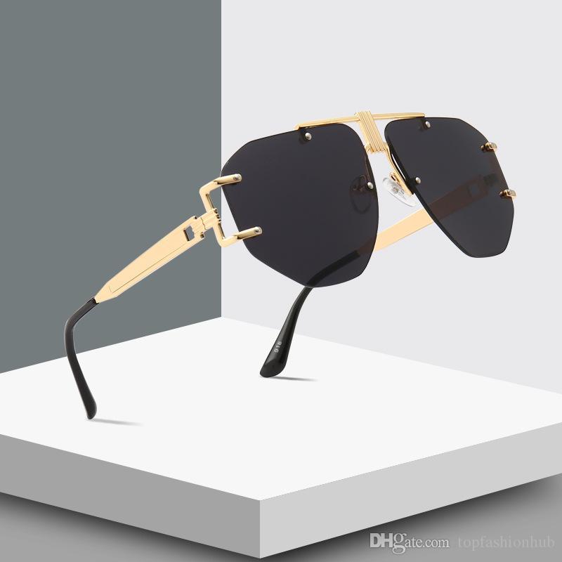 Lunettes de soleil à vapeur rétro modernes Punk Trendy Street Pat Ocean Lunettes de soleil Marque Designer UV400 Vente chaude lunettes de soleil