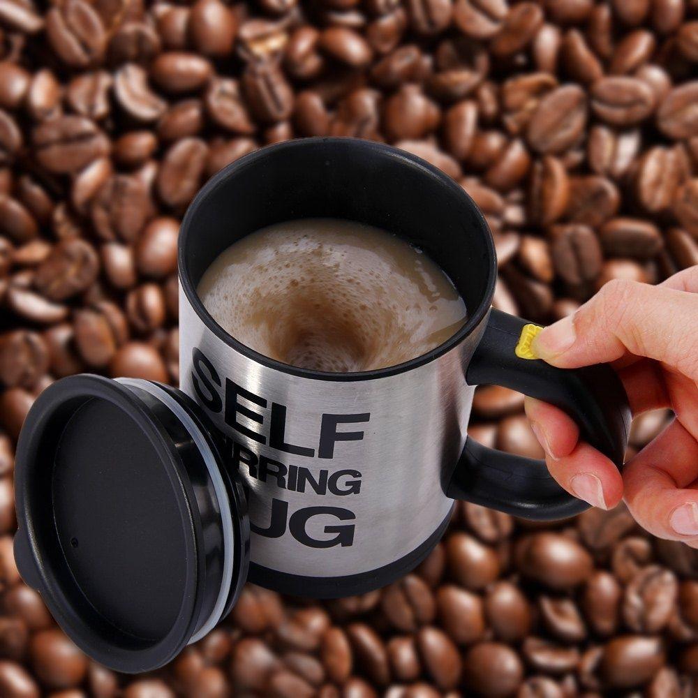 Copa auto agitación taza de café, café eléctrico mezclador eléctrico automático auto agitación taza de mezcla 400ml Beber mezclador de Copa