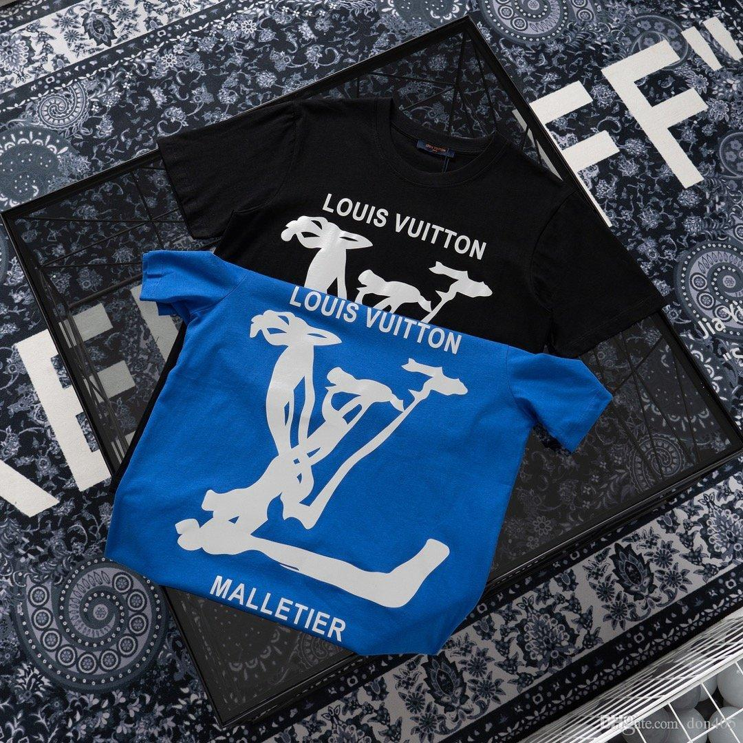 20ss New luxurious brand designs big logos print Tshirts Crewneck Short Sleeve Tee Breathable Vest Shirt Streetwear Outdoor Tshirt 529